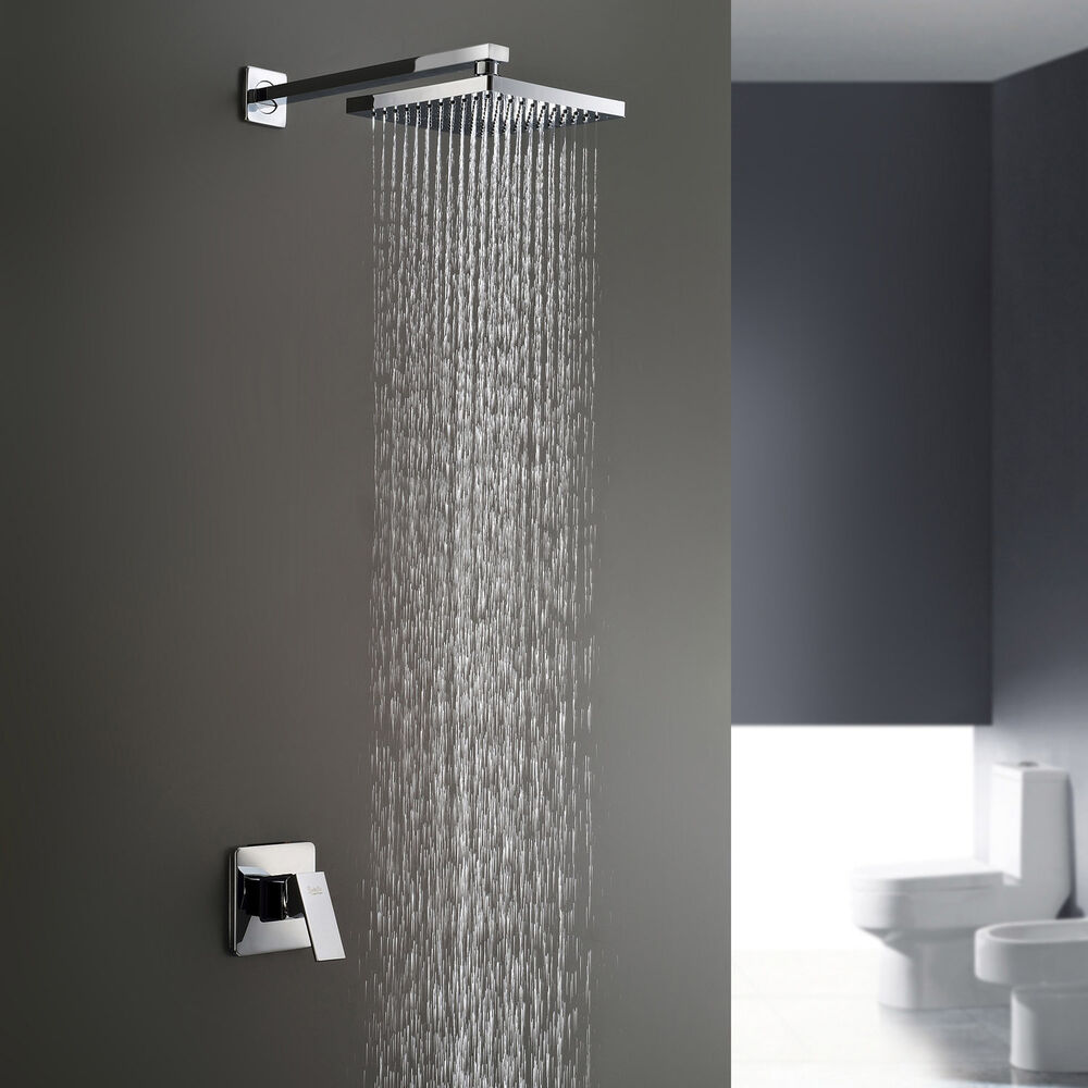 wall mount bathroom rain bath shower faucet mixer set