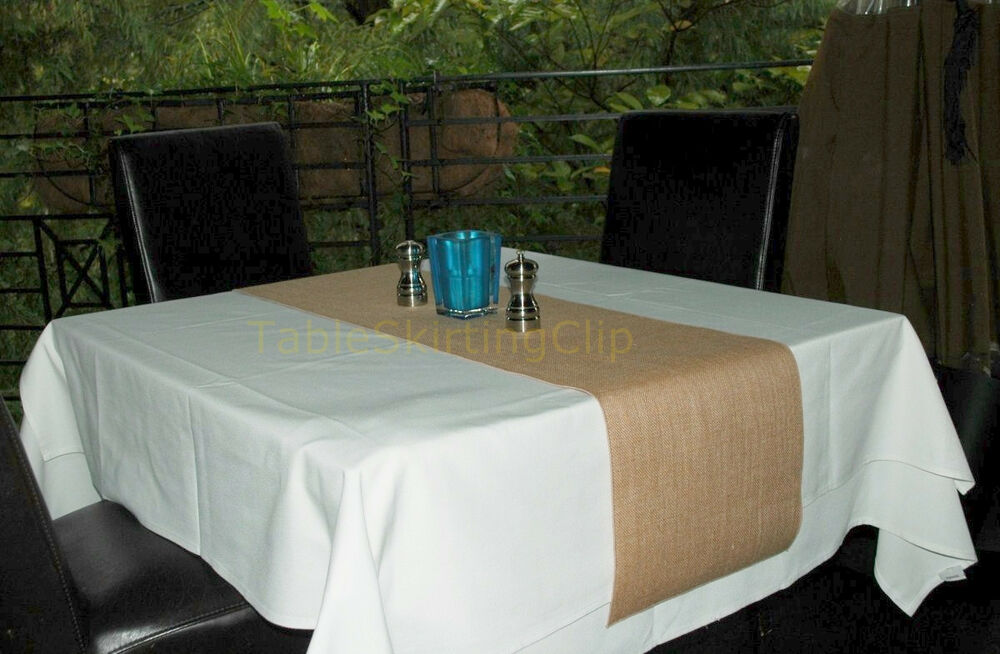 13 wide x 72 long burlap table runners 100 premium for 85 inch table runner