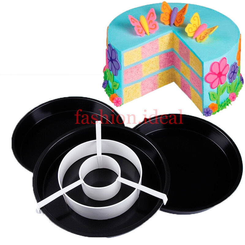 Set Of Steel Cake Tins