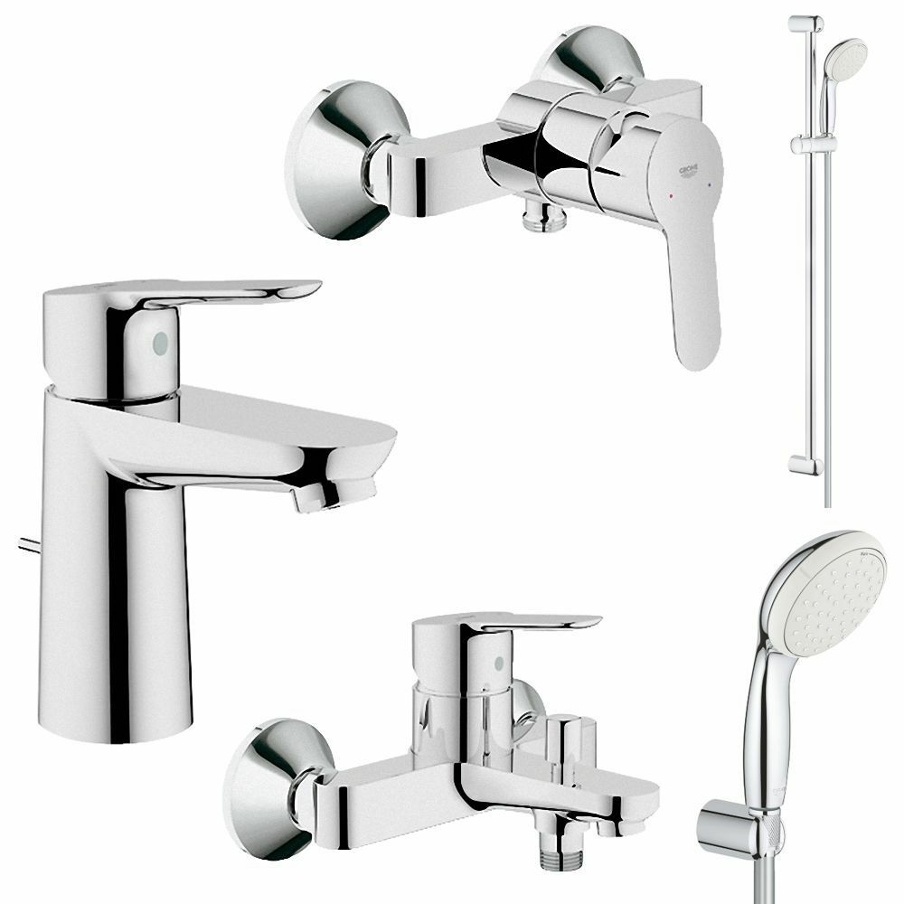 grohe bauedge und tempesta bad armaturen sets waschtisch brause wanne dusche ebay. Black Bedroom Furniture Sets. Home Design Ideas