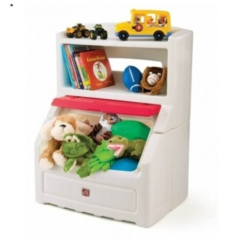 New Bookcase Toy Box White Finish Bedroom Playroom Child: Kids Toy Box Childrens Storage Bin Chest Playroom Bookcase
