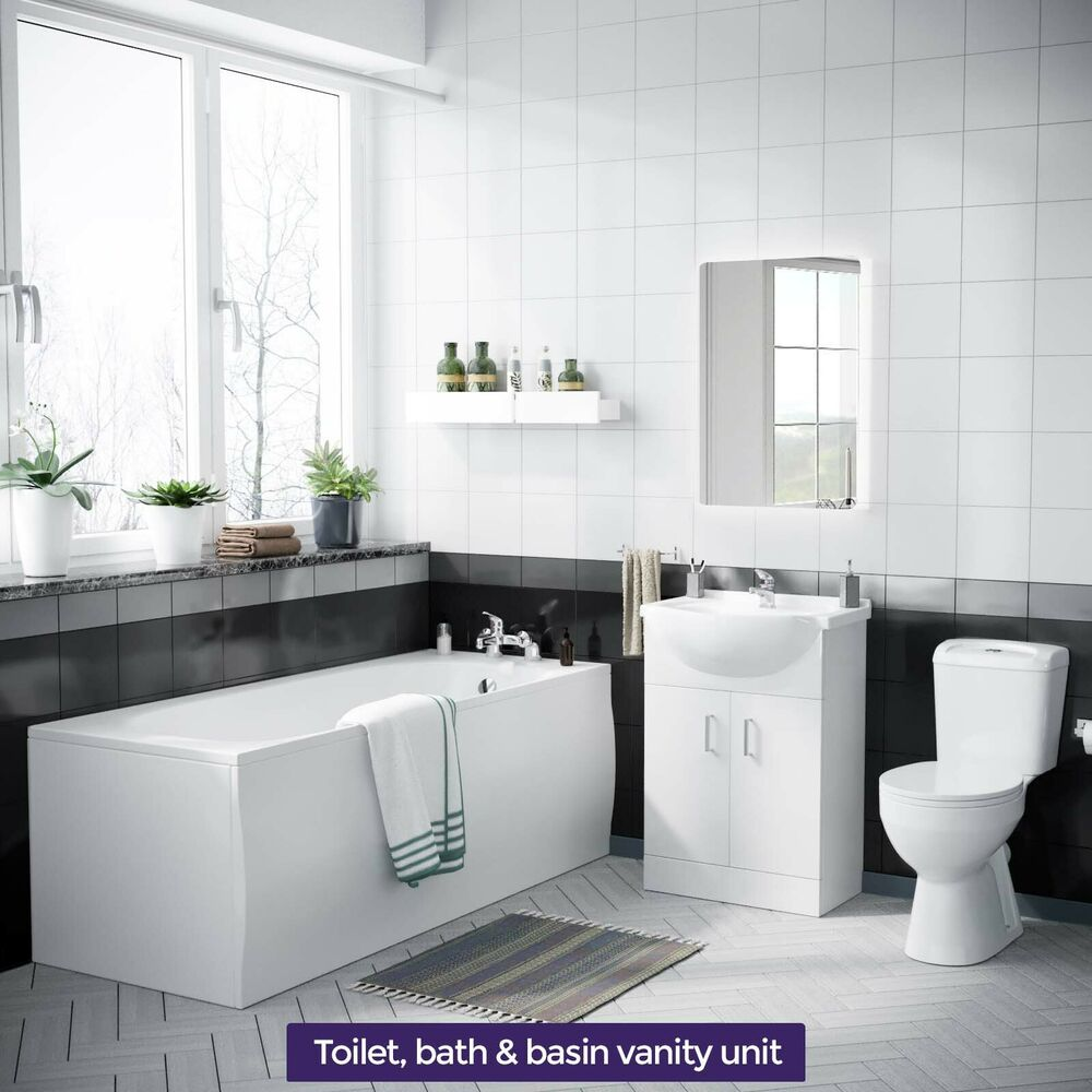 Contract 3 piece bathroom suite toilet round bath for Three piece bathroom