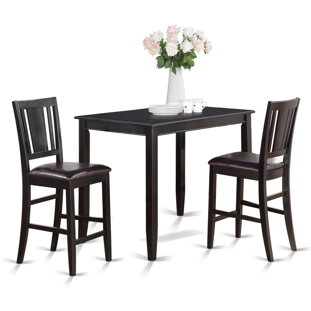 3pc counter height pub set table with 2 bar stool chairs  : s l1000 from www.ebay.com size 1000 x 748 jpeg 126kB
