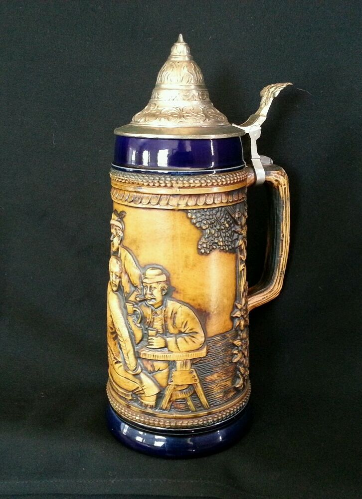 Vintage GERZ West Germany Lidded Stoneware Beer Stein DBGM ... |Vintage West Germany Beer Steins