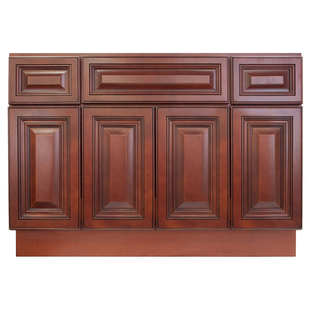 base bathroom cabinets lesscare cherryville 48 quot bathroom maple vanity sink base 10179