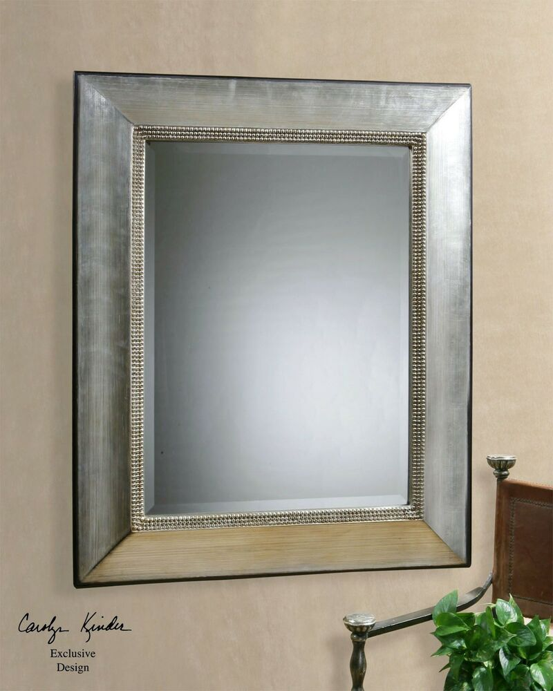 Extra large classic silver wall mirror traditional for Large silver wall mirror