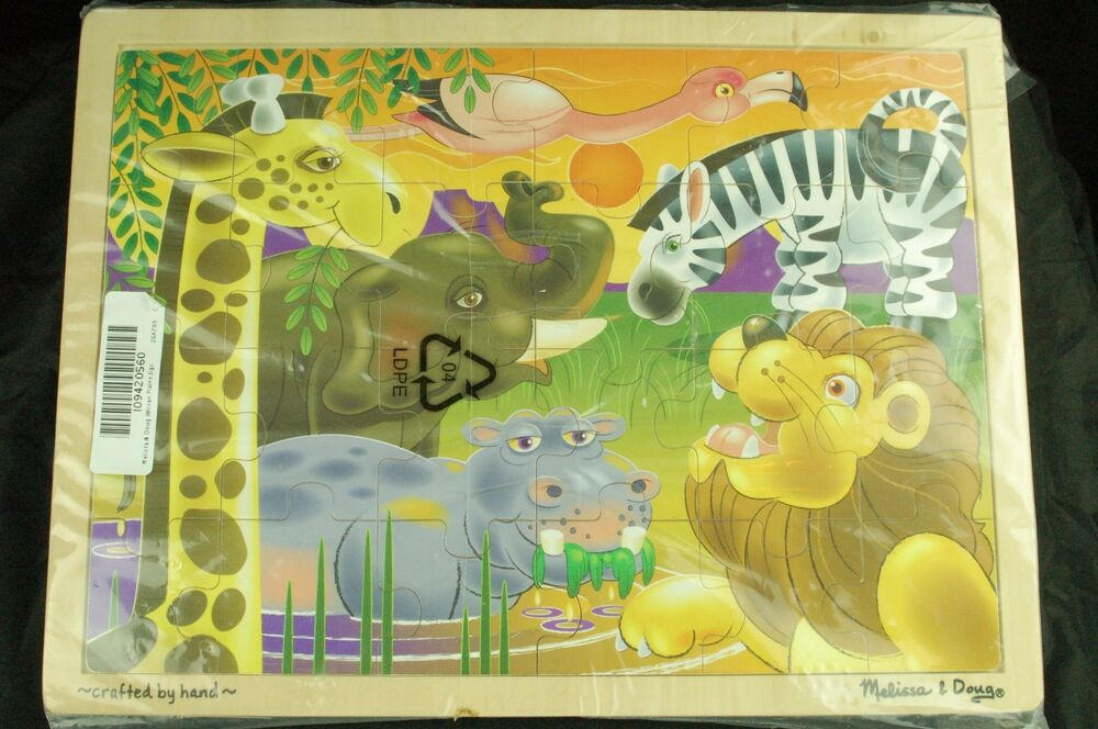 New Melissa And Doug Wooden Jigsaw Puzzle African Plains