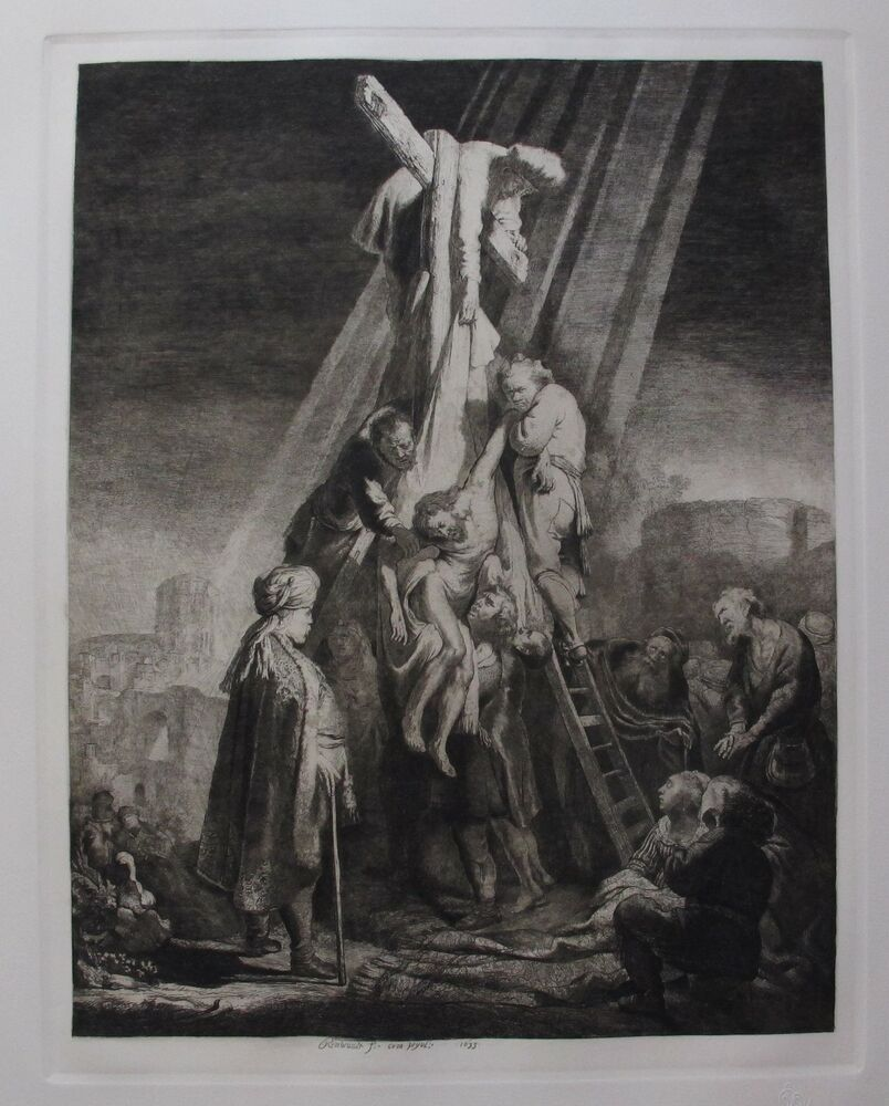 """REMBRANDT """"THE DESCENT FROM THE CROSS"""" Amand Durand Plate ..."""