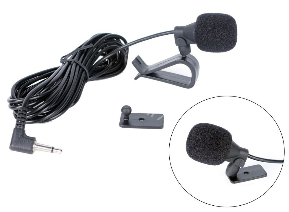 Car Microphone: Car Stereo External Microphone 3.5mm Bluetooth Radio
