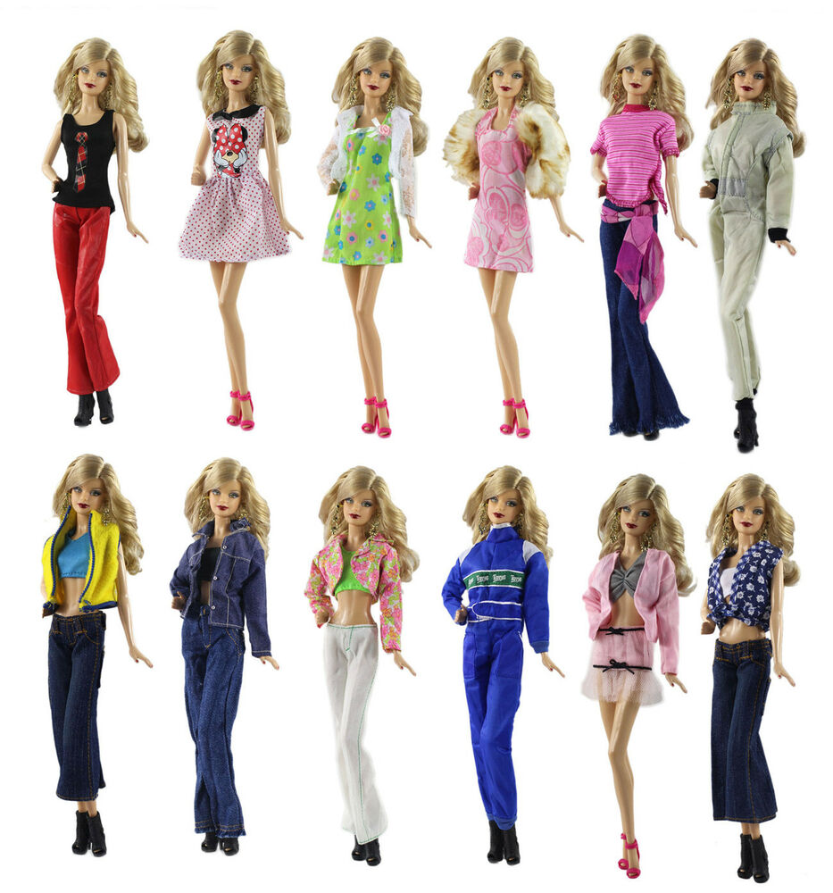 5 Pcs Different Style Fashion Handmade Clothes Outfit 10 Shoes For Barbie Doll Ebay