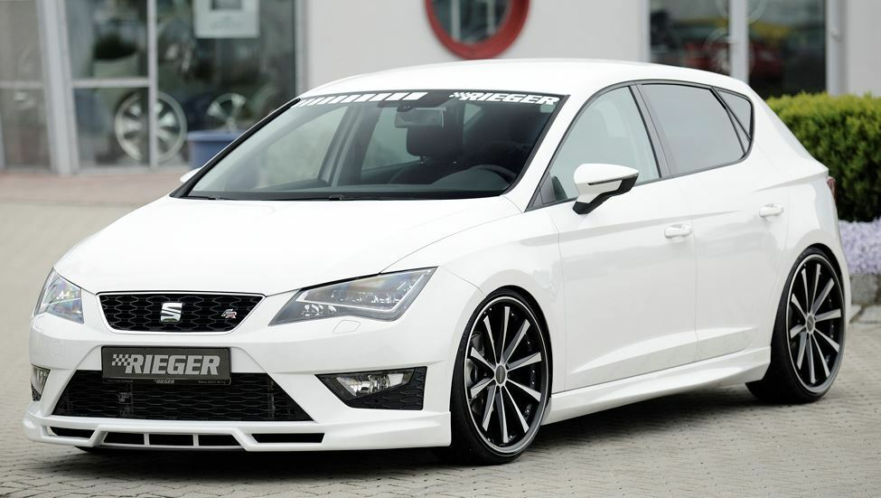 rieger seitenschweller f r seat leon 5f 5 t rer incl fr cupra kombi ebay. Black Bedroom Furniture Sets. Home Design Ideas