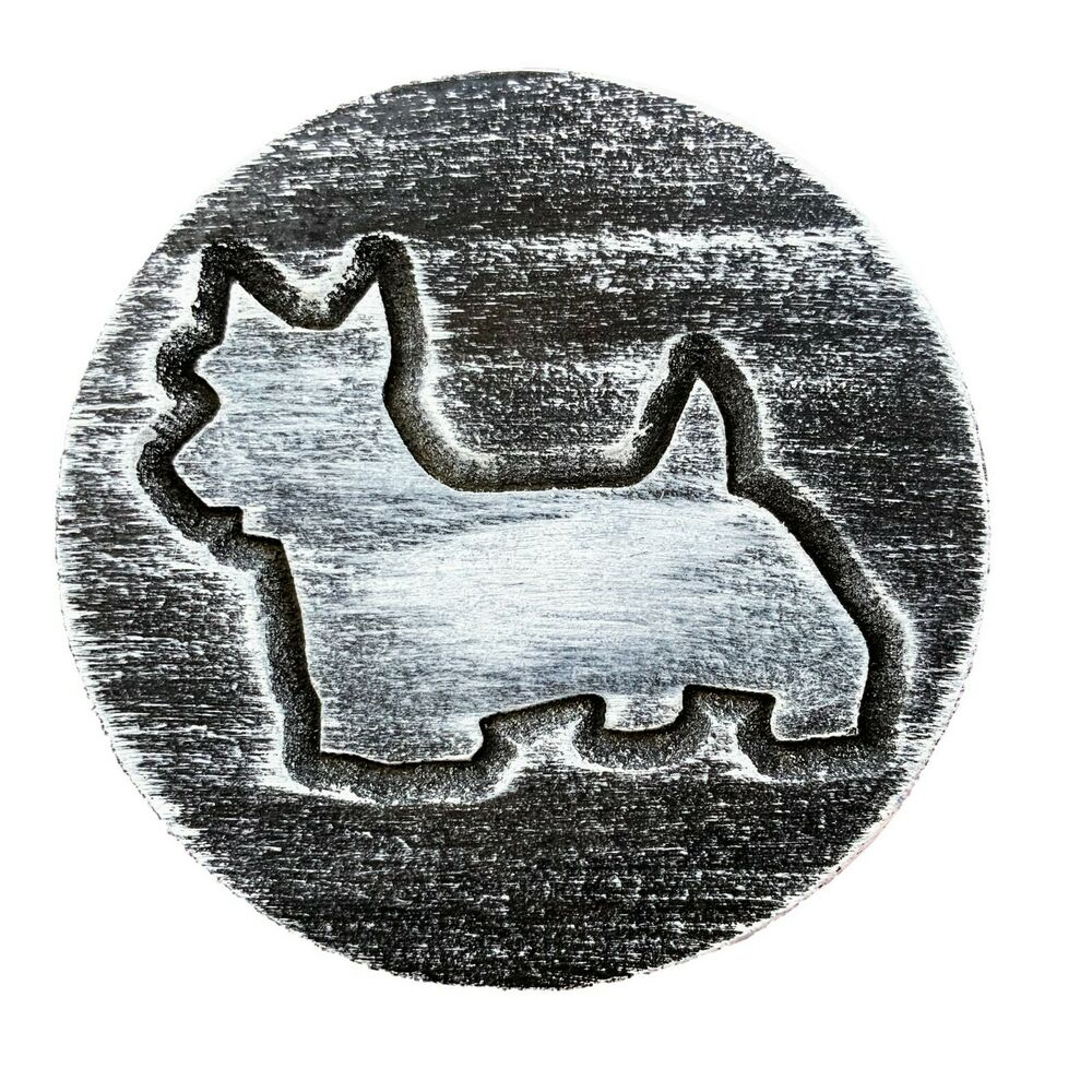 plastic plaque mold dog scottie garden ornament casting. Black Bedroom Furniture Sets. Home Design Ideas