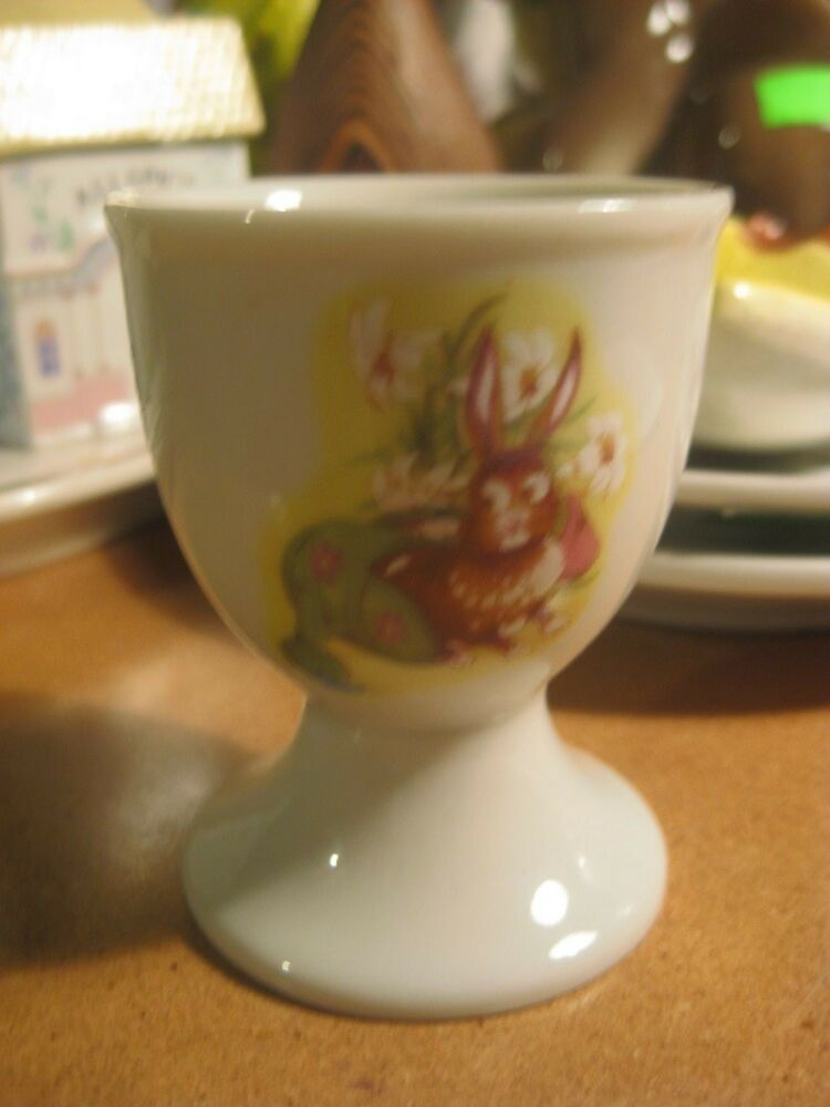 Vintage Japan Bunny Rabbit Easter Egg Cup Ebay