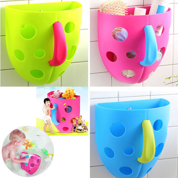 toddler baby bath toy organizer storage bathroom bag kids net super scoop tub ebay. Black Bedroom Furniture Sets. Home Design Ideas