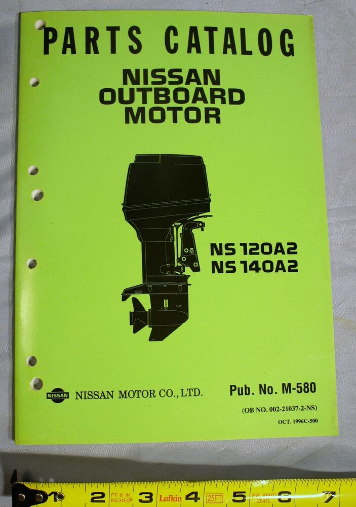 Nos Nissan M 580 Outboard Boat Motor Parts Catalog Ns