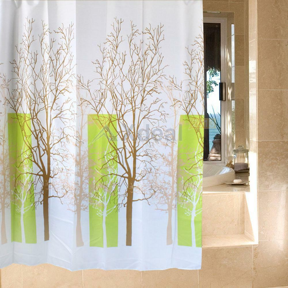 Waterproof Bathroom Fabric Shower Curtain Liner Polyester