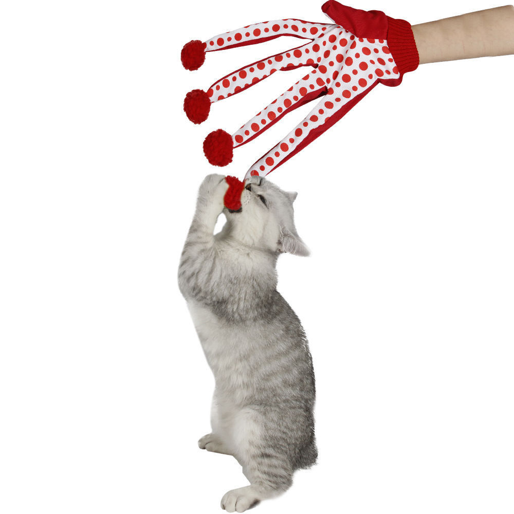 Fun Cat Toys : Fun gloves red dot cat toy pet toys cats funnly teaser