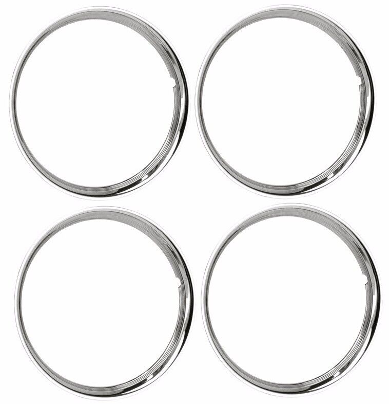 15 chrome stainless steel hot rod style smooth beauty rings trim ring set of 4 ebay Style me up fashion trim rings