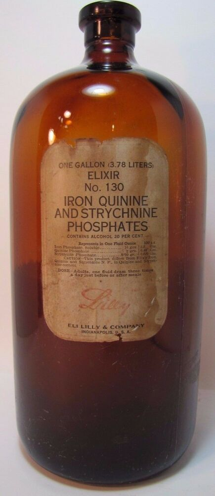 Old One Gallon Elixir Drug Store Apothecary Brown Bottle