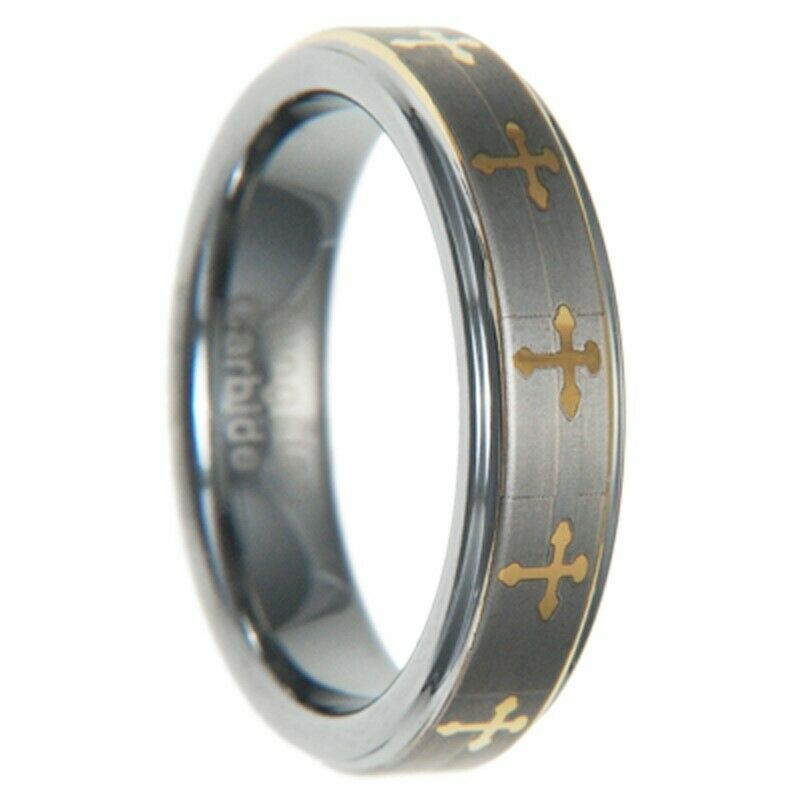 carbide cross men women wedding ring band size 5 12 full half ebay