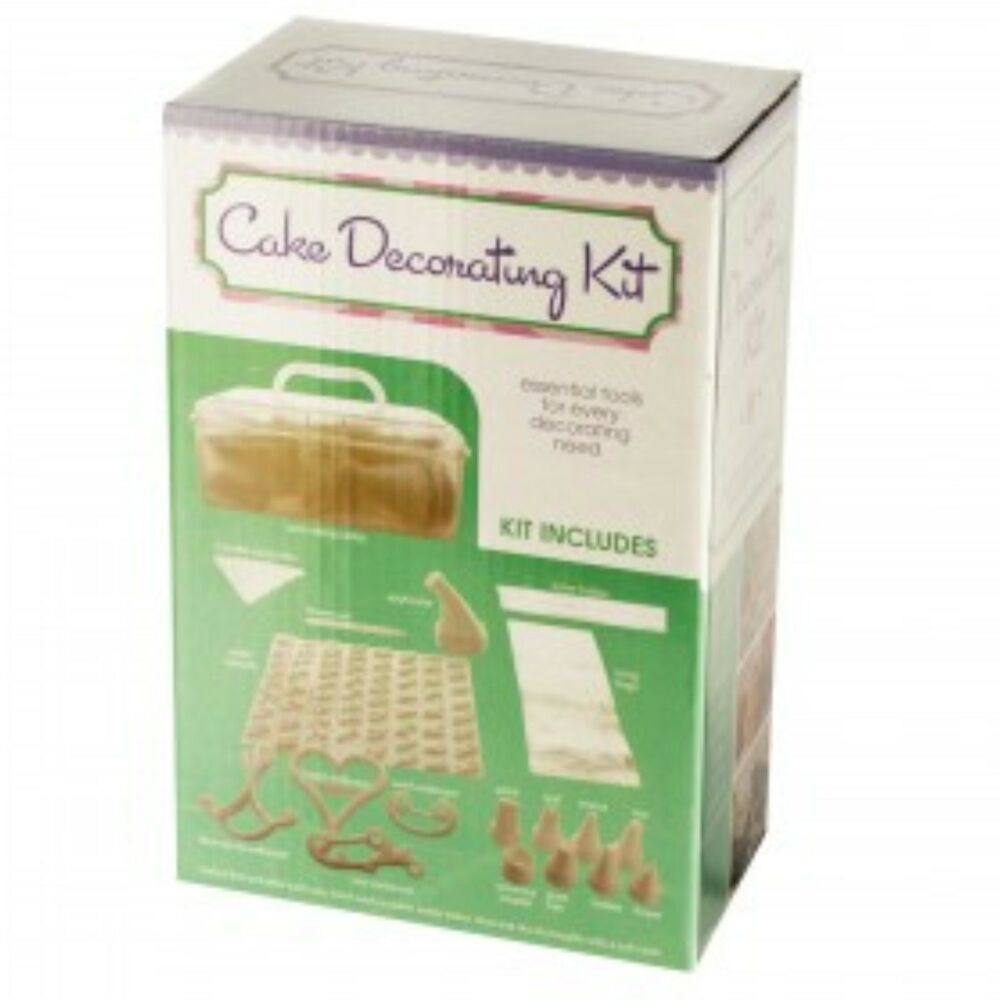 Cake Design Starter Kit : CAKE DECORATING KIT CARRY-ALONG CADDY PASTRY BAKING New eBay