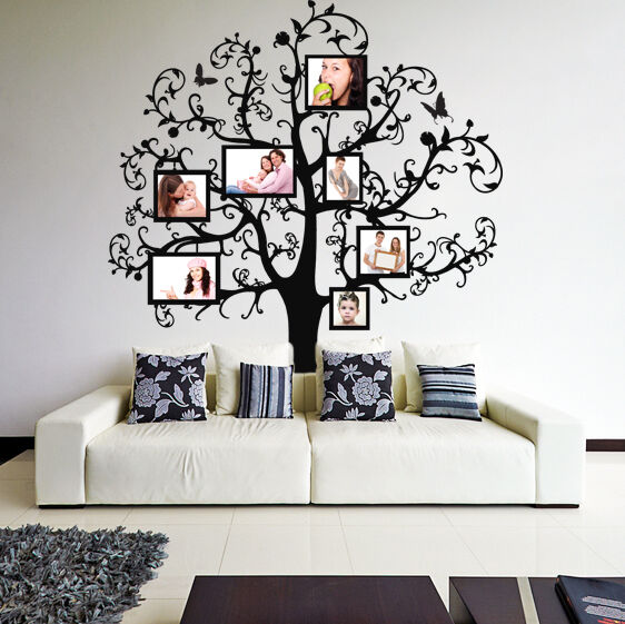 Vinyl wall decal tree with picture frames family photo branches decor sticker ebay - What is wall decor ...