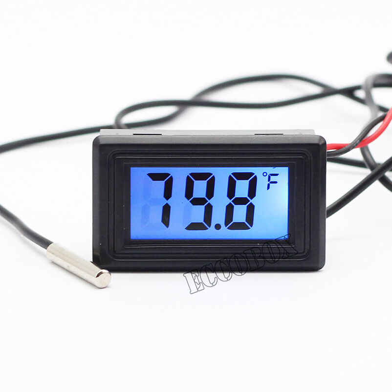 Mini F Digital Lcd Thermometer Temperature Meter Gauge Sensor Indoor Outdoor Us Ebay