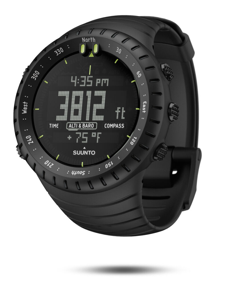 Suunto core all black military digital outdoor watch ss014279010 ebay for Outdoor watches