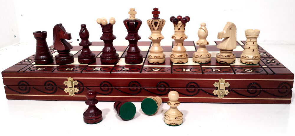 Exclusive ambassador de lux genuine hand crafted for Hand crafted chess set
