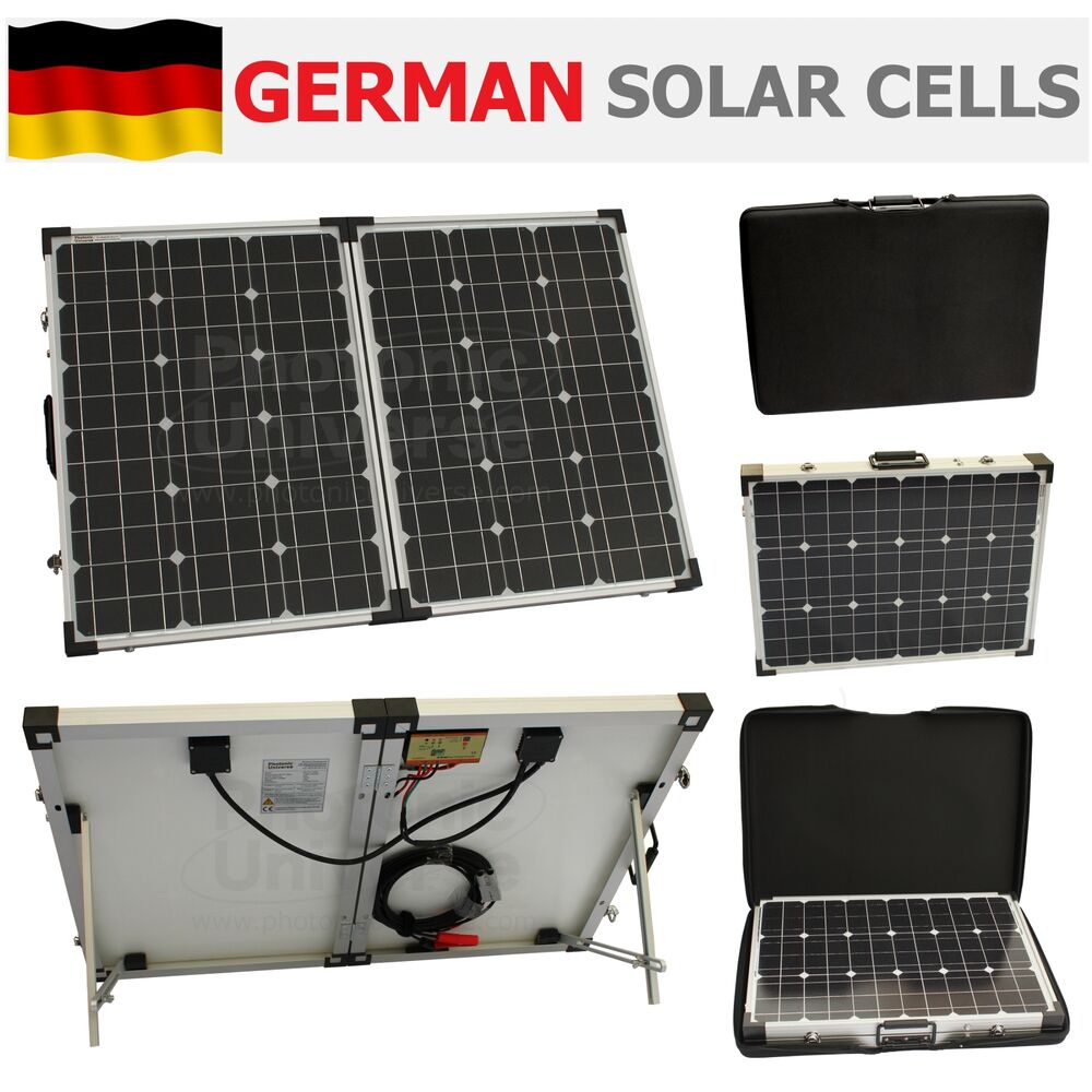 100w 12v Folding Solar Panel Charging Kit For Camper