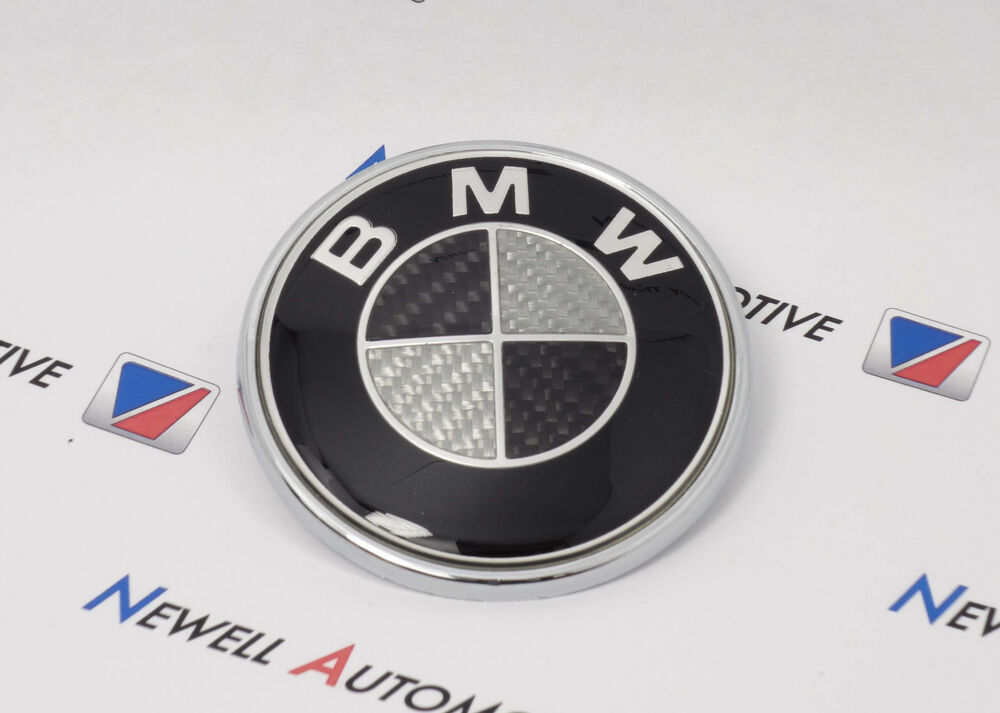 bmw black carbon 74mm bonnet boot badge emblem e39 e46 e90. Black Bedroom Furniture Sets. Home Design Ideas