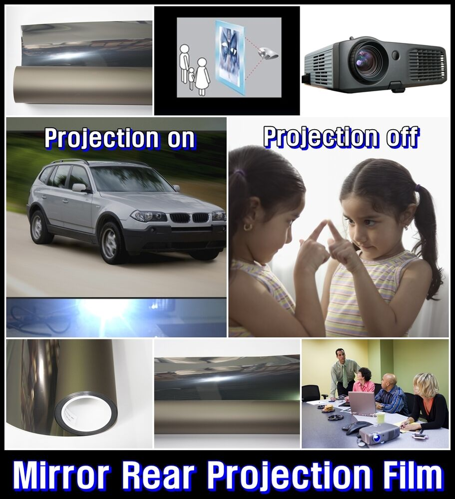projection film White rear projection film is great for a wider viewing angle, dark environment  and if you need the versatility to project from both the front and the back of your.