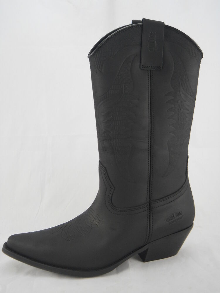 johnny bulls western style mens cowboy leather boots size