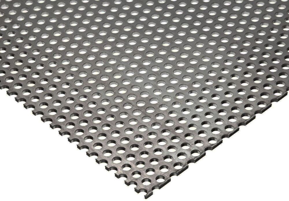 304 Stainless Steel Perforated Sheet 035 Quot 20 Ga X 8 Quot X