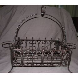 Southern Living at Home Acanthus Metal Basket