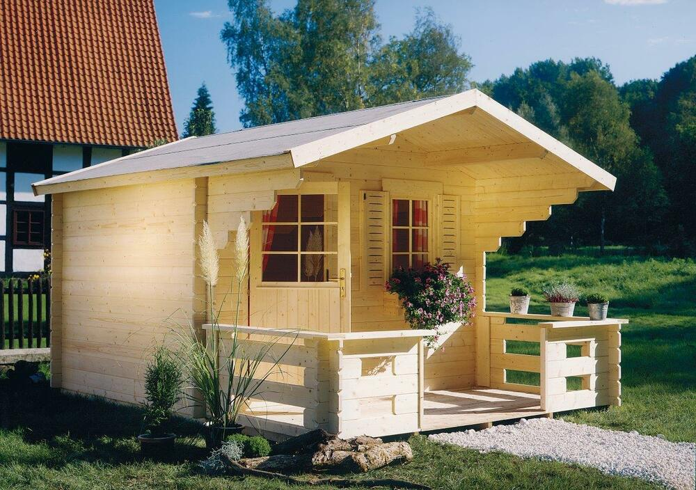 blockbohlenhaus lillevilla t1 28mm 3 00x2 300m t r fenster vordach gartenhaus ebay. Black Bedroom Furniture Sets. Home Design Ideas