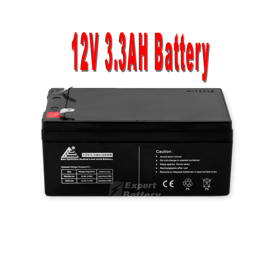 12v 3 3ah sla battery replaces bp3 12 bp3 6 12 cf12v2 6 cfm12v3 cp1232 ebay. Black Bedroom Furniture Sets. Home Design Ideas