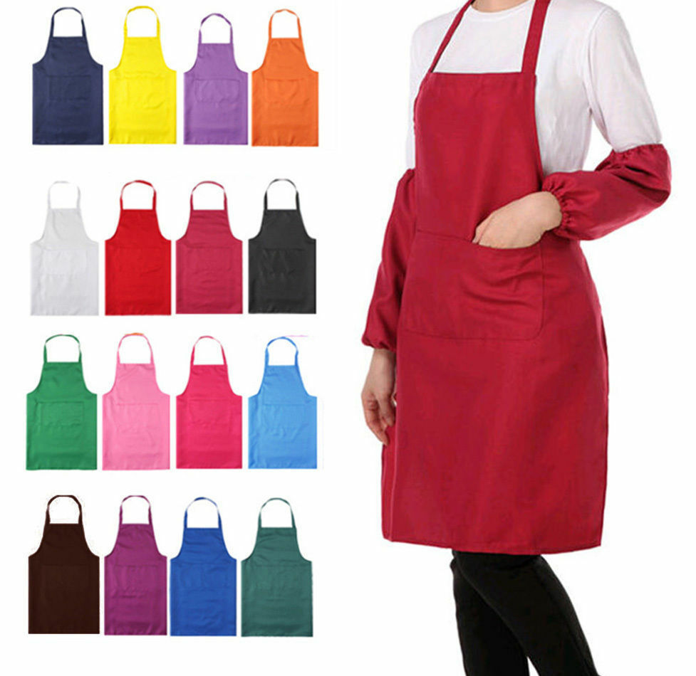 Plain Front Apron With Pockets