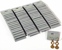 """100 Gray Plain Earring Hanging Cards 1 1/2"""" x 1 1/2"""""""