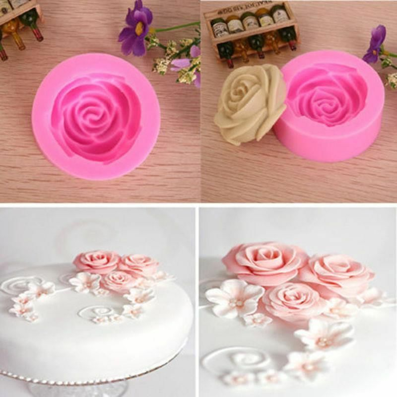 Sugarcraft Cake Decorating And Baking Show : 3D Rose Flower Decorating Tools Cutter Mold Sugarcraft ...