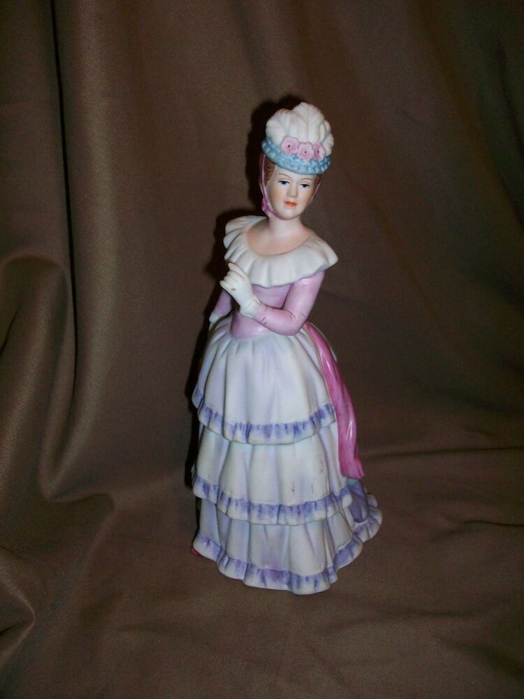 Imperfect homco home interiors victorian lady w no Eba home interior figurines