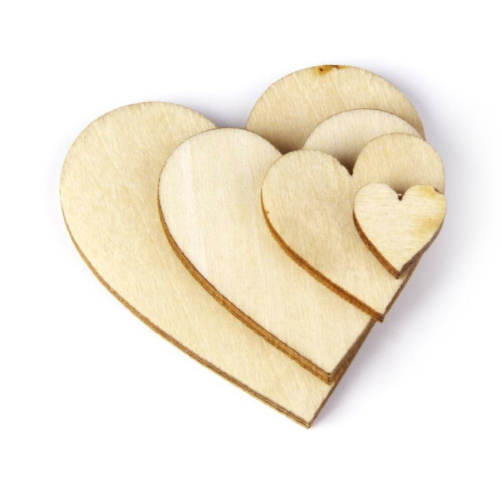 Craft Supplies Wooden Hearts