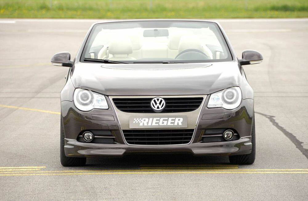 rieger frontspoilerlippe f r vw eos 1f bis facelift ebay. Black Bedroom Furniture Sets. Home Design Ideas