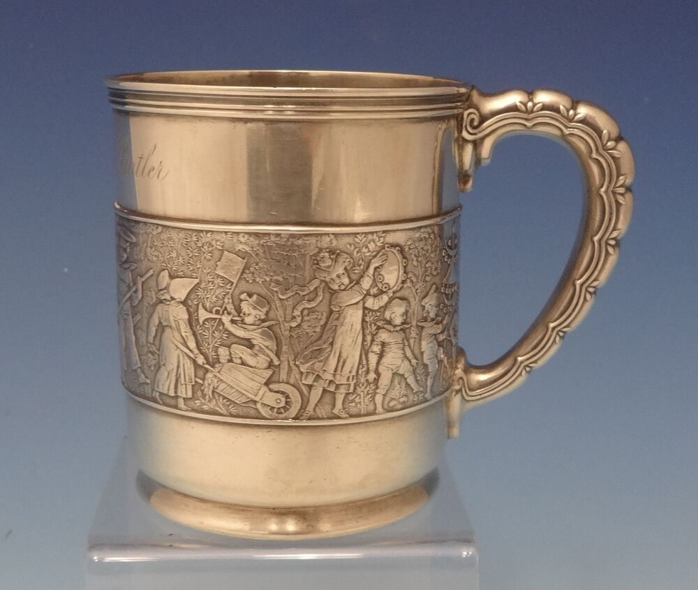 Tiffany Amp Co Sterling Silver Baby Cup With Figural