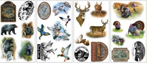 Wildlife Wall Stickers 25 Big Hunting Decals Scrapbook