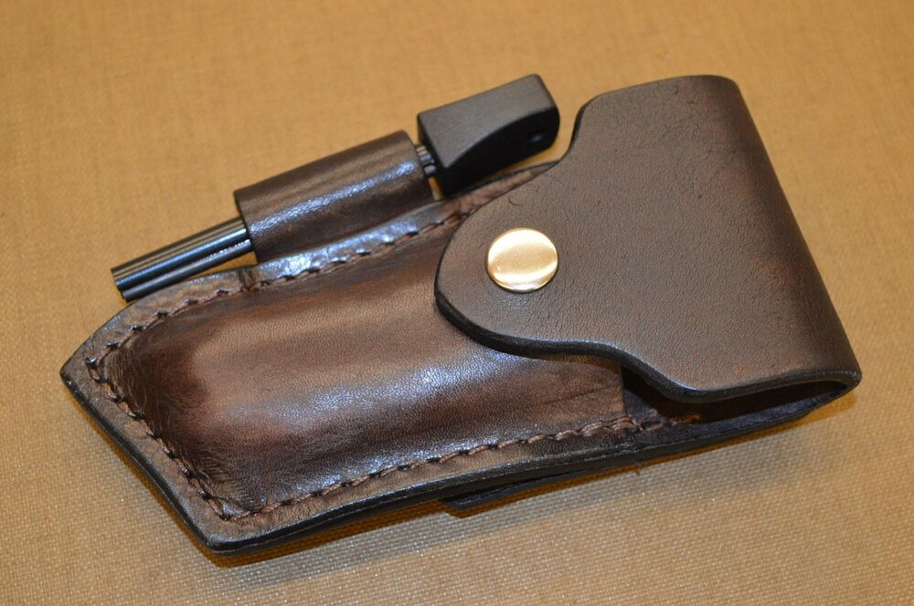 CUSTOM HAND MADE CROSS DRAW SHEATH WITH FIRE STEEL FOR ...