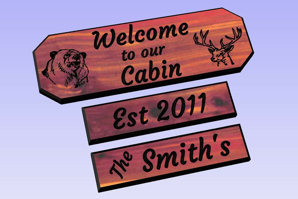 Http Www Ebay Com Itm Personalized Custom Carved Cabin Cedar Wood Sign Rustic Plaque Home Decor 141744029195