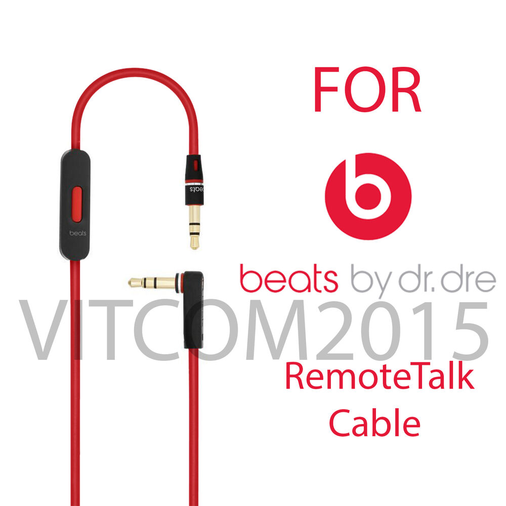 replacement audio remote talk cable for beats by dre. Black Bedroom Furniture Sets. Home Design Ideas