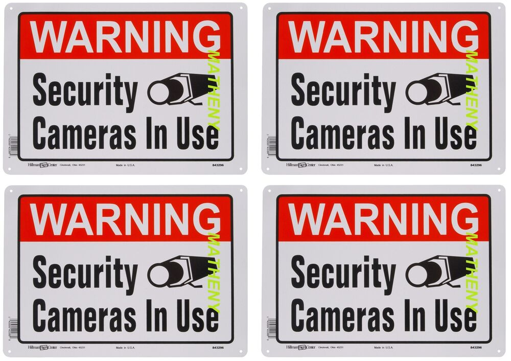 lot of 4 warning security cameras in use home video