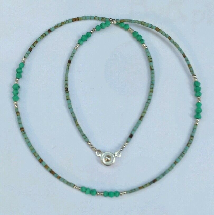 Afghan Natural Turquoise & Malachite Tiny Seed Beads ...